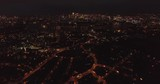 4k Drone shoot over London at night - thames, lights on - 181969605
