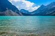Majestic mountain lake in Canada. Bow Lake.