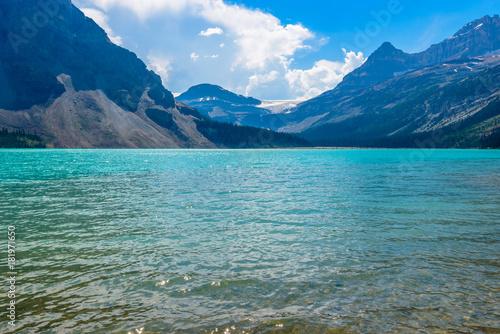 Keuken foto achterwand Canada Majestic mountain lake in Canada. Bow Lake.