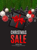 Christmas and New Year Sale Background, Discount Coupon Template. Vector Illustration - 181972255
