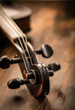 Violin in vintage style on wood background - 181980665