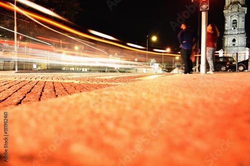 Poster Nacht snelweg Porto