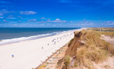View from the red cliff on the island of Sylt, Germany - 181983869
