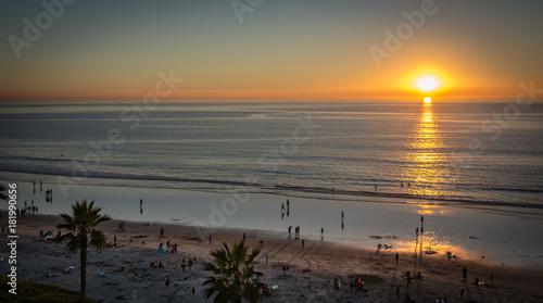Fotobehang Strand Sunset, Solana Beach, California