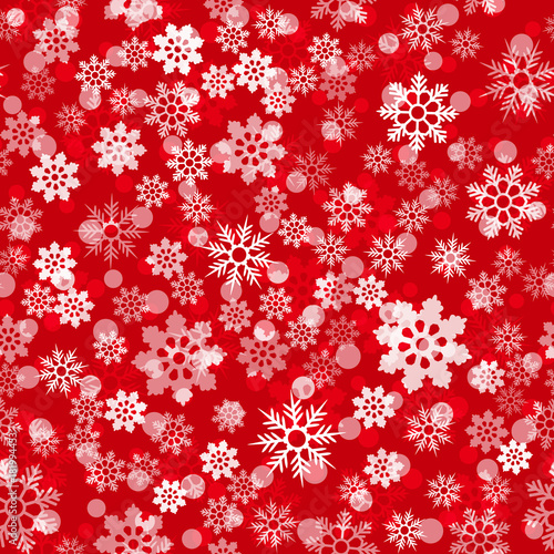 New year, Christmas background with snowflakes. Seamless festive pattern for winter holiday design. Modern xmas, valentine vector pattern for fabric print, wrapping.