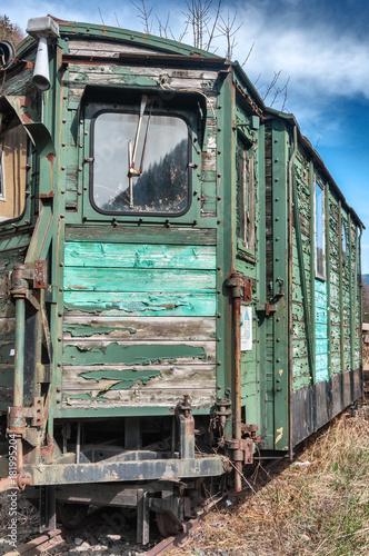 Fotobehang Spoorlijn Lost Places Train