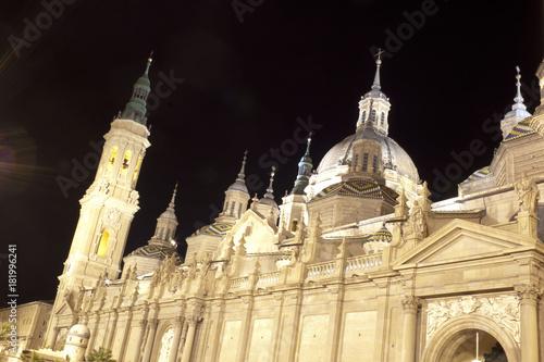 Domes of El Pilar cathedral in Zaragoza, Spain
