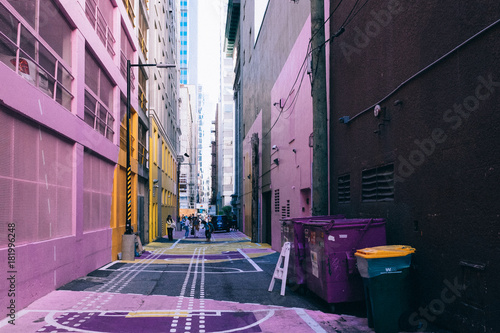 Plexiglas Smalle straatjes Vancouver