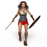女性騎士 - 181997245