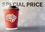 Coffee Banner Concept Grey Background. Vector EPS10