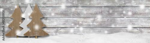 Leinwanddruck Bild Weihnachten Banner Panorama Hintergrund