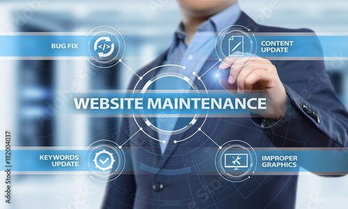Website maintenance Business Internet Network Technology Concept