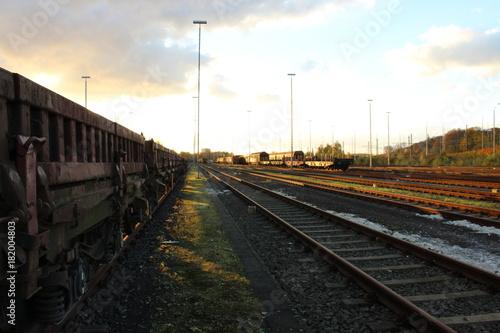 Tuinposter Spoorlijn Bahnhof