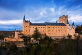 twilight view of Alcazar of Segovia - 182008242