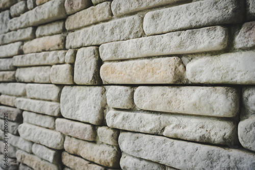 Papiers peints Brick wall Grey stone Wall textured background.