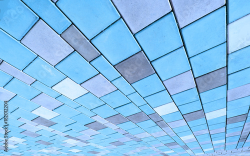 Plexiglas Stenen graphic image of coloured street tiles