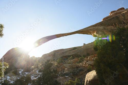 In de dag Blauwe hemel Arches National Park 8