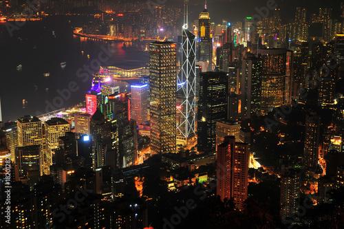 Hong Kong Cityscape at Night Poster