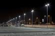 modern parking area at night