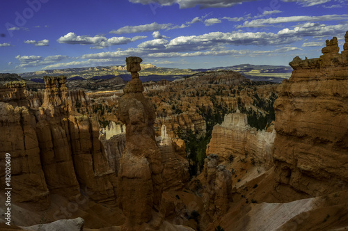 Foto op Canvas Chocoladebruin Bryce Canyon with sunny image erosion, natural art and beautiful roads