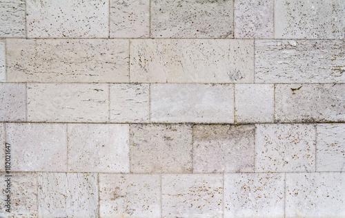 Tuinposter Baksteen muur full frame stone wall
