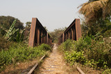 Cambodia old railway norry with bridge
