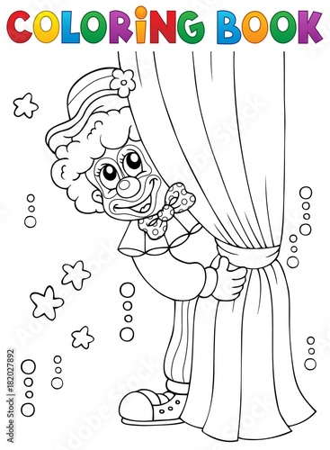 Foto op Canvas Voor kinderen Coloring book clown thematics 1