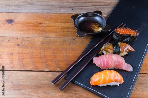 Fotobehang Sushi bar Fresh Japanese sushi
