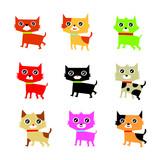 cute kitten vector collection
