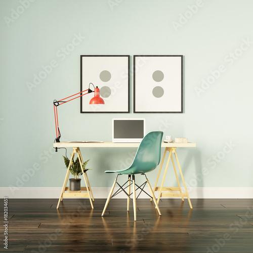 Light green modern home office