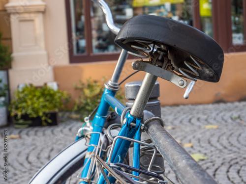 Deurstickers Fiets Altes Retro Fahrrad