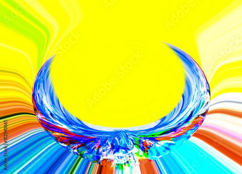 Fotobehang Abstractie Abstract. Abstraction. Graphic. Backdrop. Rainbow