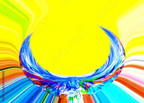 Aluminium Abstractie Abstract. Abstraction. Graphic. Backdrop. Rainbow