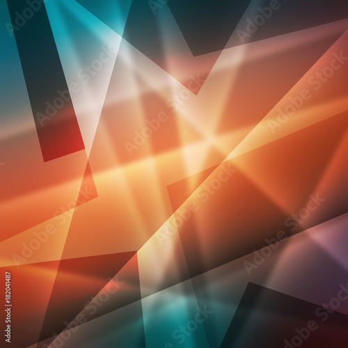 In de dag Abstract wave Colorful abstract background with lines. Digital illustration.
