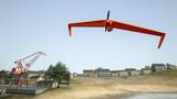 uav dron samolot pustynia krajobraz morze