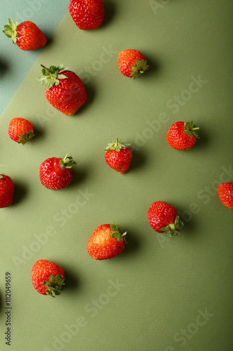 fresh and organic strawberries - 182049659