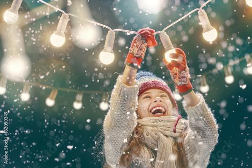 Foto Murales girl enjoying the holidays