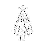 Christmas tree symbol icon vector illustration graphic design