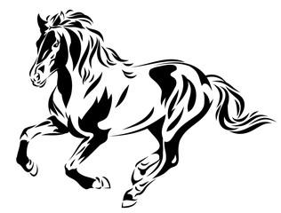 Beautiful horse image, vector