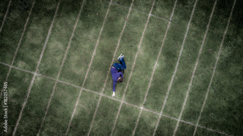 Keuken foto achterwand Gras Man On The Grass