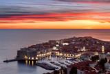 Dubrovnik city at sunset