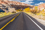 Road into Capitol Reef National Park