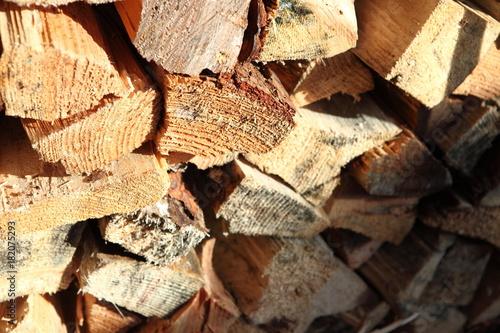 Deurstickers Brandhout textuur 薪