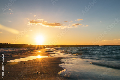 Plexiglas Strand Sunset at the dunes of Zingst