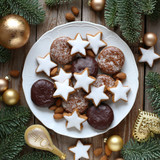 Christmas gingerbread and bisquits - 182084071