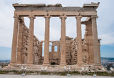 Facade of Parthenon in Acropolis, Greece - 182091001