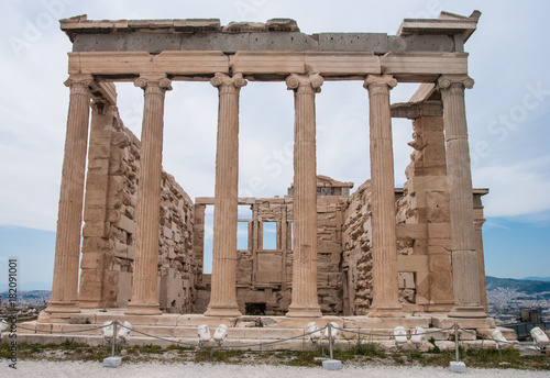 Staande foto Athene Facade of Parthenon in Acropolis, Greece