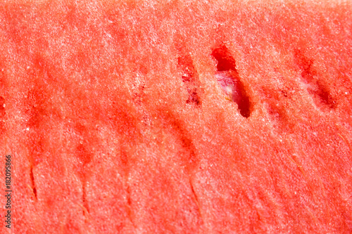 Watermelon. Ripe red fruit with seeds. Macro. - 182095866