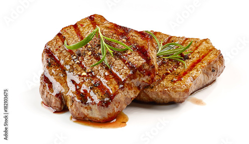 Foto op Canvas Steakhouse freshly grilled steak