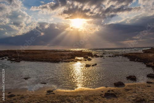 Fotobehang Strand Gunes ve deniz